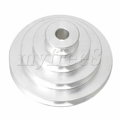 Aluminum 16mm Bore 4 Step A Type V-Belt Pagoda Pulley Belt Outer Dia 41-130mm