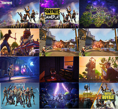 "Fortnite Characters Poster Gaming Poster Large 24"" x 16"" XBox PS4 PC Wall Art"