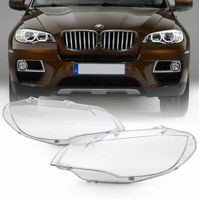 [Extra Clear+Heavy Duty] 08-14 BMW E71 X6 Replacement Headlight Lamp Cover Lens