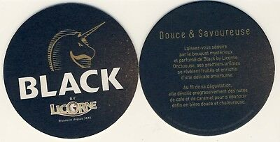 2 Sous Bocks bierdeckel bierviltje coaster BLACK by LICORNE douce savoureuse New