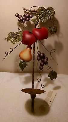 1 of 2 NWT Home Interiors Sonoma Villa Metal Fruit Wall Sconces Candle Holder