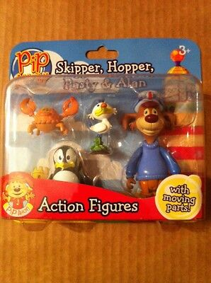 Pip Ahoy! 4 Pack Action Figures Skipper Hopper Pasty & Alan Brand New! Age 3+