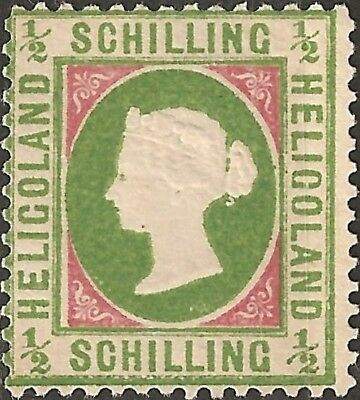 UN-USED 1869 HELIGOLAND 1/2 Schilling STAMP British Empire COLONY Queen Victoria