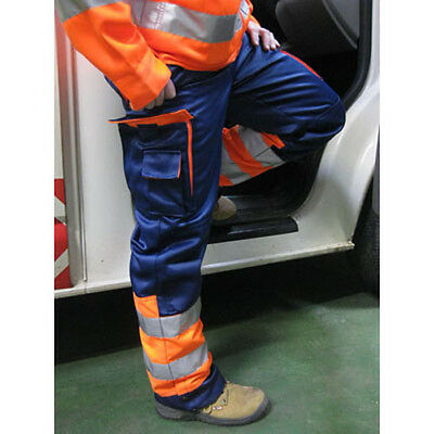 Hi Visibility Heavy Duty Contrast Recovery Safety Work Trousers, HYM466