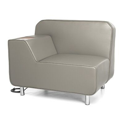 Serenity Series Right Arm Lounge Chair with Electrical Outlet