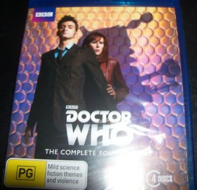 Doctor Who The Complete Fourth Series 4 (Australia Region B) Bluray – New