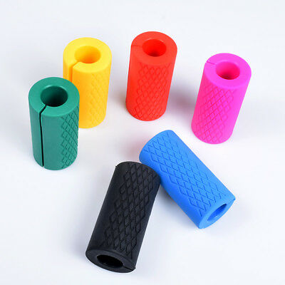 6 Colors Barbell Grips Silicone Pull Up Weightlifting Anti-Slip Grip Protect Pad