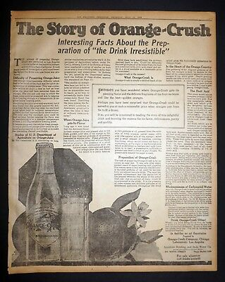 The Story of Orange Crush Full Page Ad  - 1919 San Francisco Newspaper Page