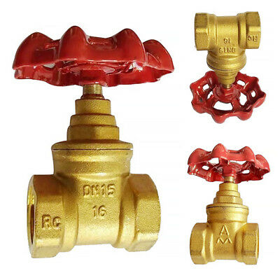 DN15 DN20 Thread Gas Sluice Gate Valve Thicken Water Compression Oil Brass New