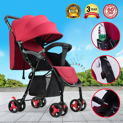 Compact Lightweight Baby Stroller Prams Easy Fold Travel Carry on Plane Portable