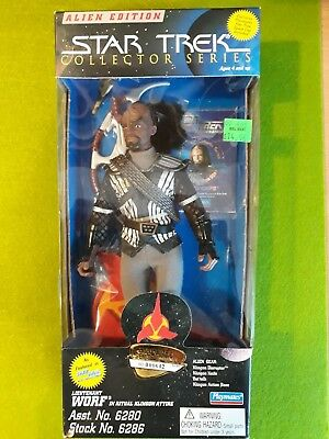 "9"" Inch Star Trek Collector Series Playmates Klingone Lieutenant Worf Stng 6286"
