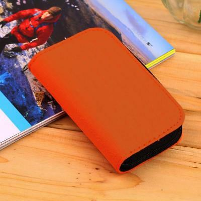 ORANGE Memory Card Wallet - Micro SD SDHC CF SM - Protective Storage Holder Case