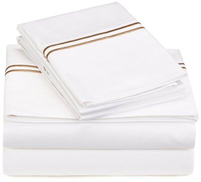 Pinzon 400-Thread-Count Egyptian Cotton Sateen Hotel Stitch Sheet Set - Cal