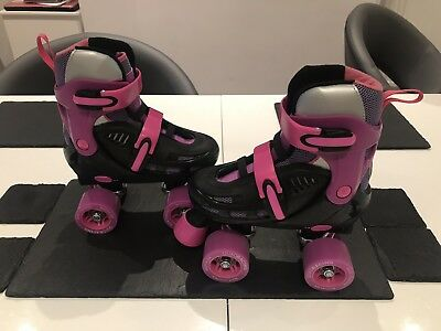 Girls racing storm roller skates