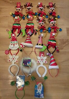 Joblot Christmas flashing boppers snowman Santa angel adult childs fancy dress