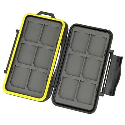 Water-resistant Shockproof Storage Memory Card Case For 12 SD Cards Bag H8F7