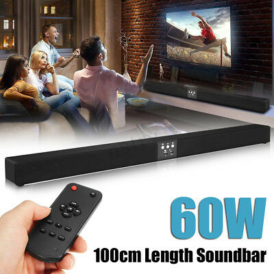 60W 5.1 Wireless Bluetooth Soundbar Stereo 8 Speaker Remote Subwoofer Echo-wall