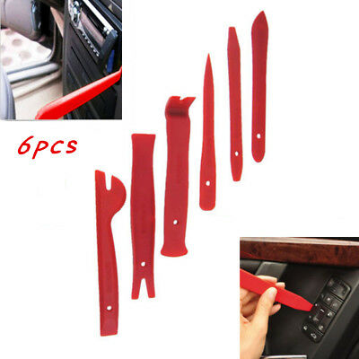 6pcs Car Radio Door Body Clip Panel Trim Dash Audio Plastic Removal Pry Tool Kit