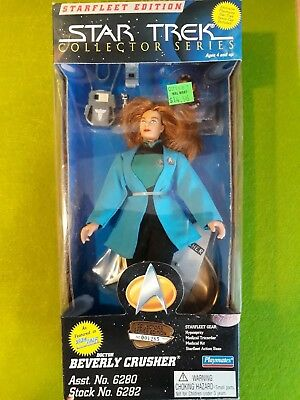 "9"" Inch Star Trek Collector Series Playmates Dr. Beverly Crusher Stng 6082"