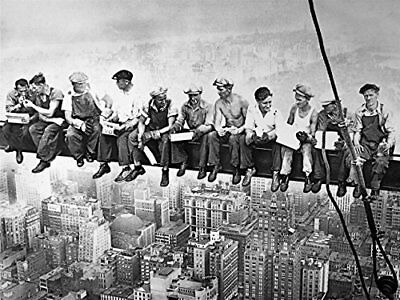 LARGE Lunch atop a Skyscraper 1932 by Charles C Ebbets 47x35 Vintage Photo Print