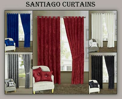 Amazing Designs Fully Lined Top Quality SANTIAGO Curtain (Pair)