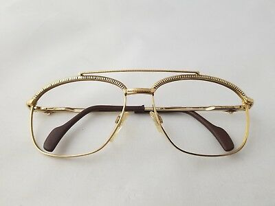 Vintage Longines Mod. 0172/0572 501 Gold Brown Leather Temple Tip Frame Germany