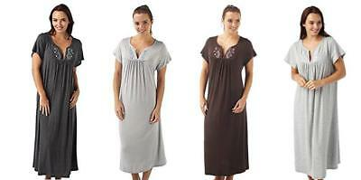 9323e0d0c9 Ladies Viscose Nightdress Nightie Nightwear Sizes 8-32 PLUS SIZE FREE P P