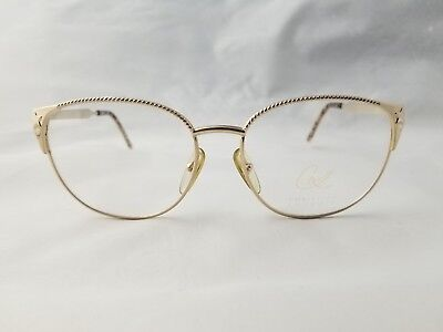 Vintage Christian Lacroix 7410 40 Gold Optical Frame 57-17-130 Made In Austria