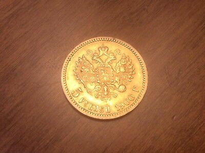1900 Russian 5 Roubles Gold Coin @@ Must see @@ lot X10