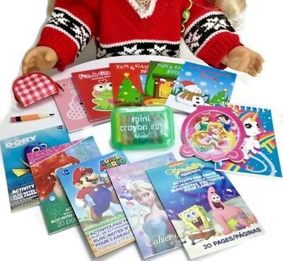 MINI PENCILS COLORING Books & Crayons for American Girl Doll 18 ...