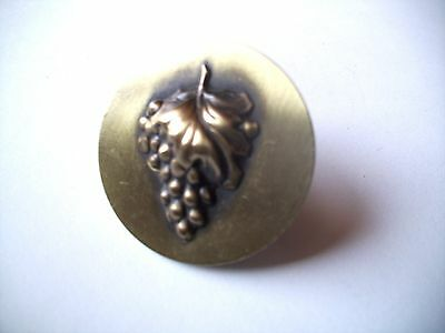 """Antique Brass 1 3/8"""" Cabinet Drawer Knob Handle Pull - BUNCH OF GRAPES DESIGN"""