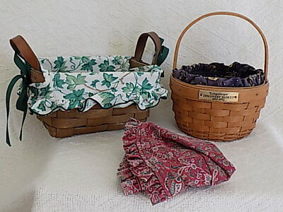 Two Longaberger Baskets 1985 and 1992