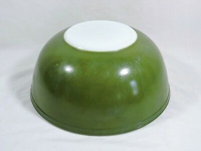 Vintage Pyrex Avocado Green #404 Nesting Mixing Bowl Large 4 Quart Needs Restore