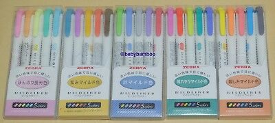 25 Color Full Set ZEBRA MILDLINER (NEW COLOR) Double Side Highlighter Marker Pen