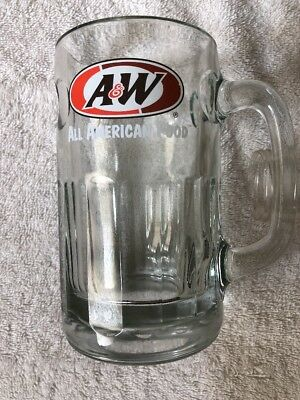Vintage A&W Root Beer All American Food Heavy Glass Mug Cup Stein 6""