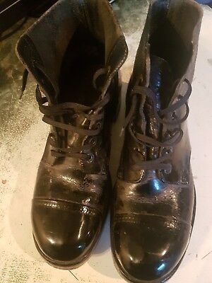 Real British Army Parade Drill Ammo Boots Leather Foot Guards Studs Bulled 8M.