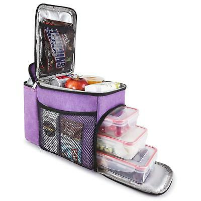 Hemingweigh Insulated Lunch Bag – Durable Lunch Box with Cooler - Purple