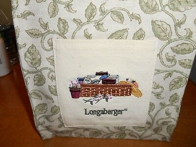 Longaberger Purse/Tote with Leaves & Basket on Front