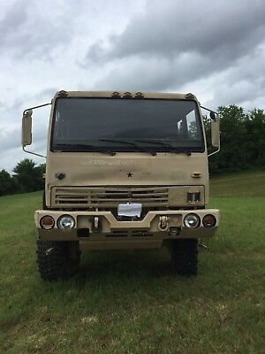 1996 Stewart and Stevenson LMTV M1078 4x4 Military Flatbed Truck