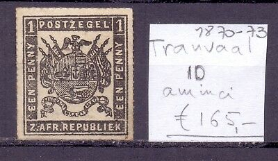 ! Transvaal South Africa 1870-1873. Thin-Spot Stamp. YT#10. €165.00 !