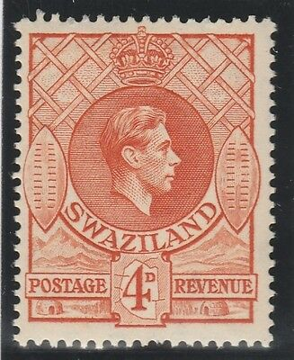 Swaziland KGVI 1938-54 4d orange SG33 (MLH) 143