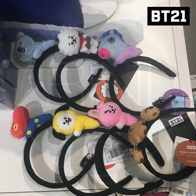BTS BT21 Official Authentic Goods Plush Hair Band Ver2 7Characters + Track Num