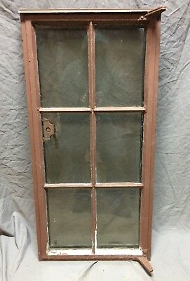 Vtg Industrial Steel 19X40 6 Lite Casement WIndow Old Factory Warehouse 357-18C