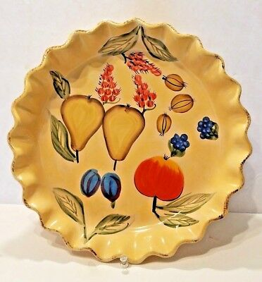 Mesa International Handcrafted Pottery Pie Plate Bakeware WARNER NEW HAMPSHIRE