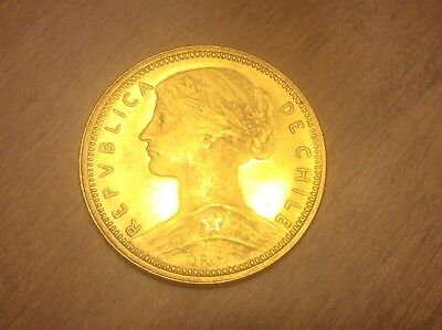 1896 S0 Chile 10 Pesos Gold @@@ Must See @@@@