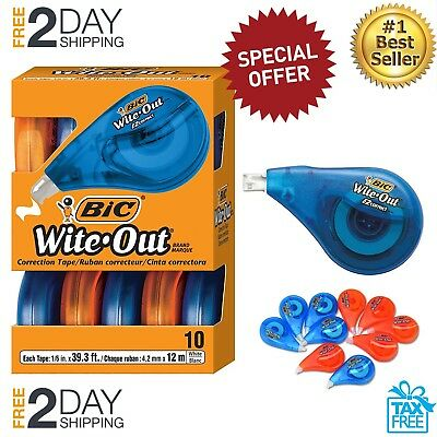 10 Pack Wite-Out Correction Tape Office Break Proof Mono White Out School Paper