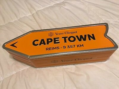 Veuve Clicquot Arrow Tin CAPE TOWN Champagne Street Sign NEW & LIMITED!