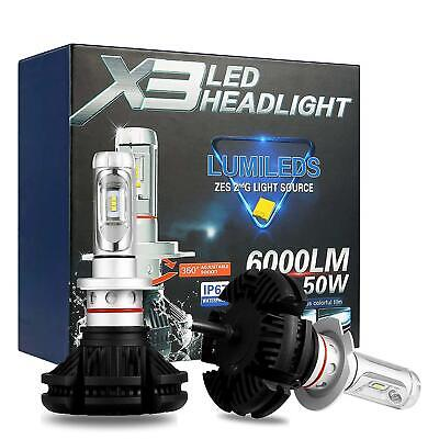 Coppia Lampade X3 Led Headlight H11 Led Cree 6500K 6000Lumen 12V Xenon Fari Auto