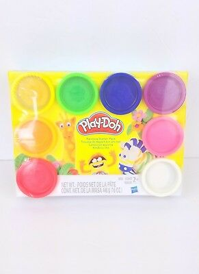 Play-Doh Rainbow Starter 8 pack 16 oz Age 2+ art kids gift multicolor