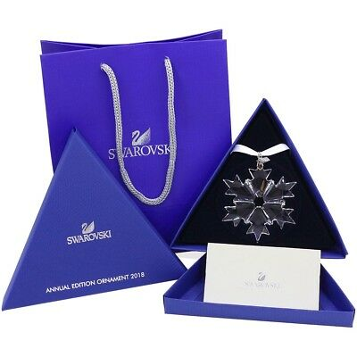 2018 Swarovski Crystal Snowflake ANNUAL EDITION CHRISTMAS ORNAMENT 5301575 zfh02